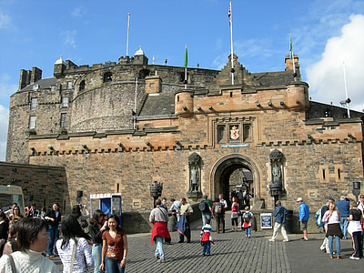 edinburgh, castle, scotland, landscape, city, architecture