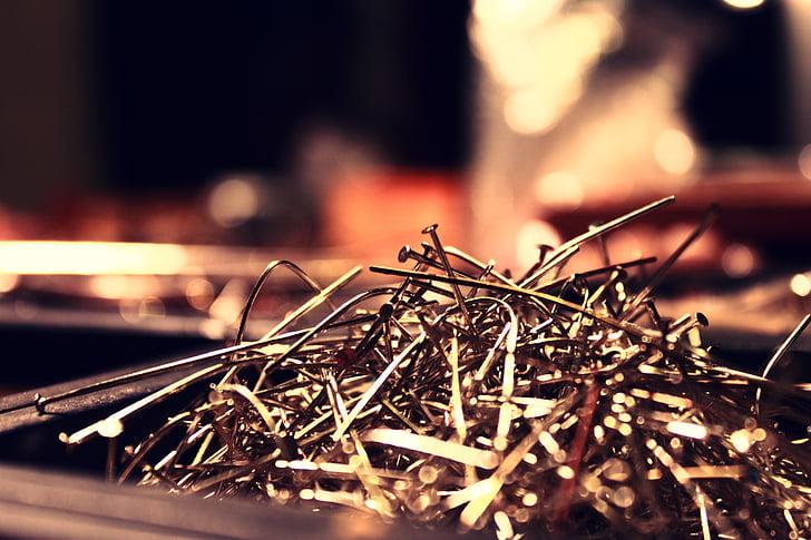 ungles, metall, les ungles, metàl·lics