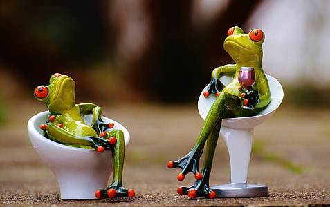 granota, cadira, acollidor, per a dos, beguda, vi, valent
