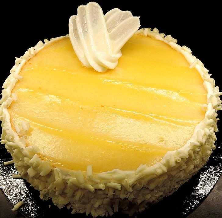 Pastís de limoncello, púding de llimona, dolç, postres, aliments, al forn, fruita