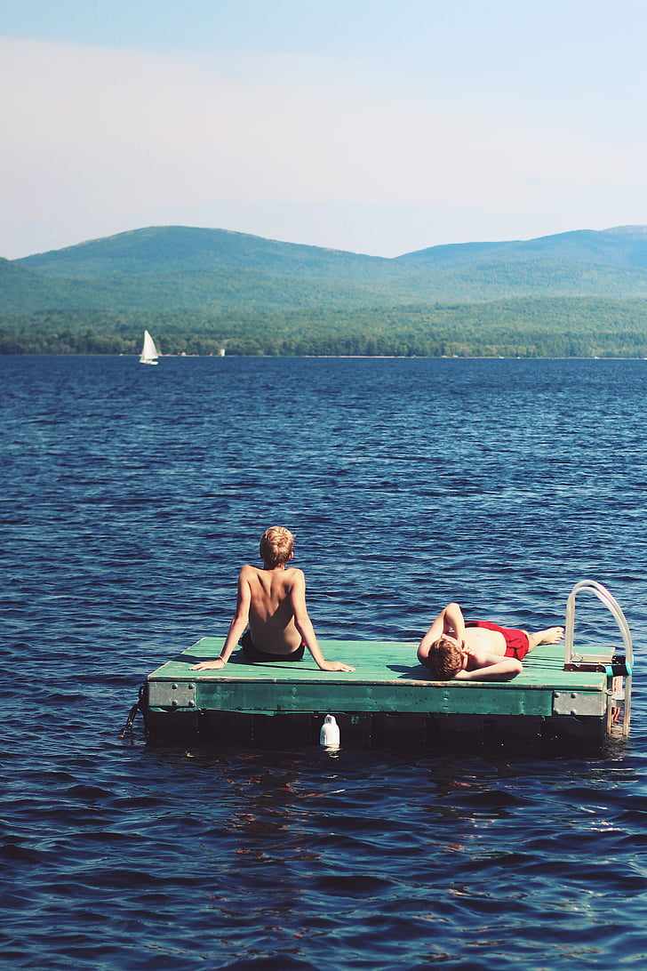 lake, leisure, outdoors, people, water, two people, leisure activity