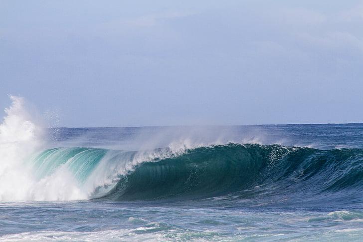 platja, natura, oceà, Mar, marí, cel, l'aigua