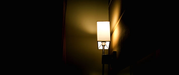 luz, Lámpara, oscuro, todavía, luces, lámpara eléctrica, iluminados