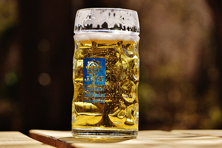 bier, biertuin, dorst, glazen mok, drankje, Bierglas, Bierpul