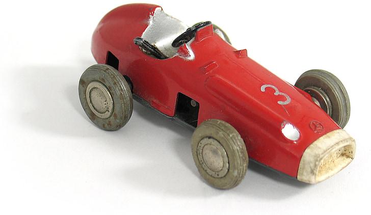 Vintage, bois, jouets en bois, voiture en bois, Mercedes, maquette, jouets