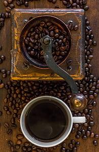 cafè, molinet de cafè, Molí, tassa de cafè, Copa, cafeteria, cafeïna