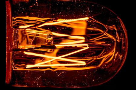 glöd lampa, ljus, glödlampa, glöd, glödtråden, Glow wire, elektriskt ljus