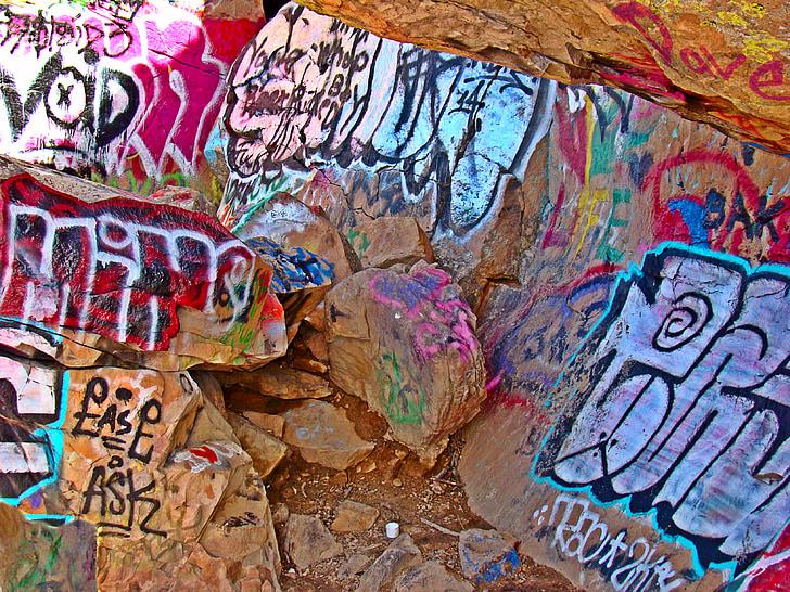 rock festmények, graffiti, utca, városi, design, festék, spray