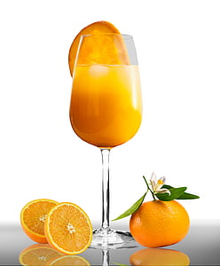 aliments, menjar, beguda, suc de taronja, suc, vidre, taronges