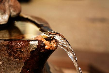 suihkulähde, vesisuihku, osittainen näköala, Juoksuputki, vesi, suihkulähde, veden ominaisuus