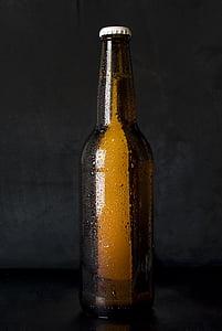 pivo, boca, hladno, kapi, alkohol, piće, pivo - alkohol
