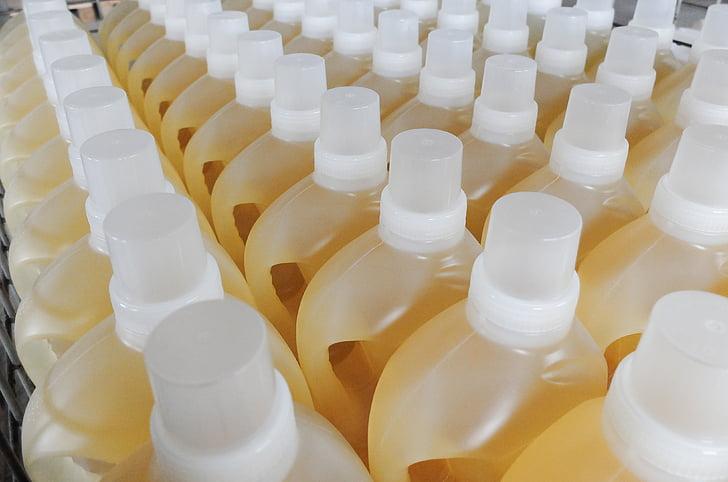 láhve, džbánky, Tekutý prací prostředek, chemii, komodita, Smluvní výroba, Plastové