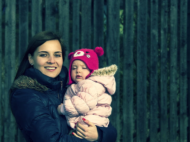 mare, feliç, família, nen, jugant, pares, assessorament