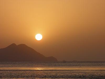 paysage, coucher de soleil, mer, Sky, plage, tombée de la nuit, paysage naturel