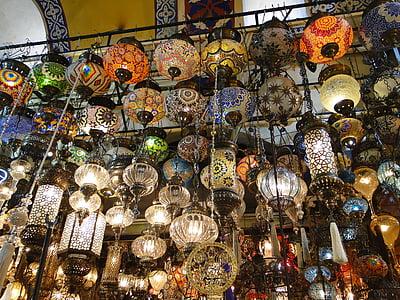 lamps, bazaar, istanbul