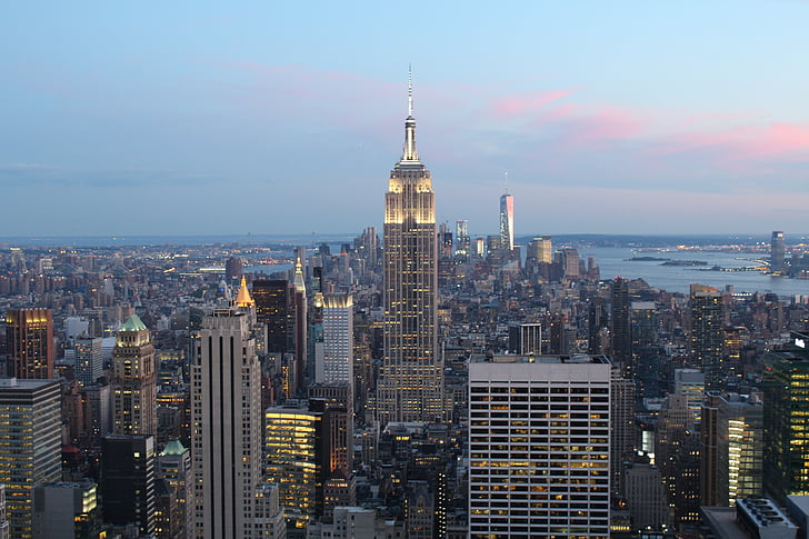 empire state building, end of afternoon, buildings, afternoon, cityscape, urban, vision