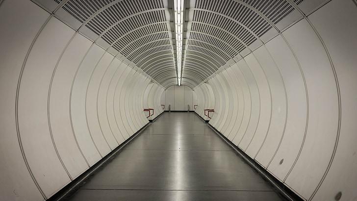 túnel, metro, Viena, Underground, urbà, ciutat, transport