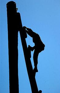 silueta, soldat, militar, formació, obstacle, curs, esforç