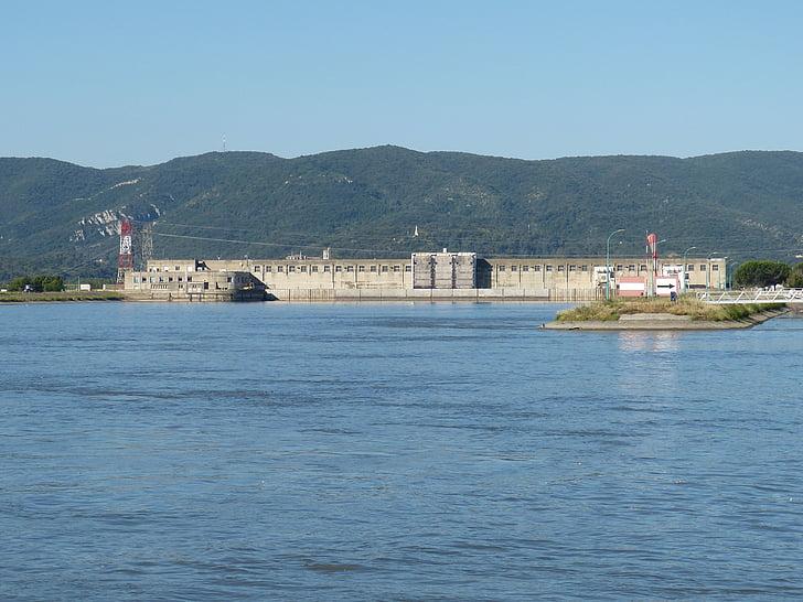 Rhône, Elektriciteitscentrale, rivier, energie, elektriciteit, Frankrijk, elektriciteitsproductie