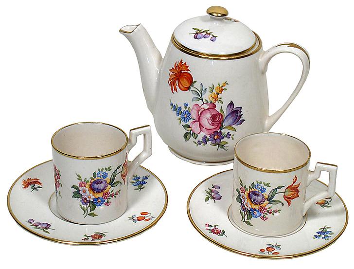 za čaj, leteći tanjur, kup, čaj, Postavi, piće, čajnik
