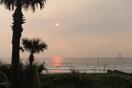 sunrise on ponte vedra beach, dawn, atlantic, ocean, beach