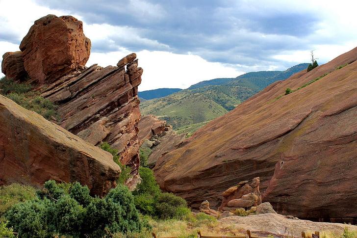 röda klippor, Colorado, landskap, Rock, Mountain, naturliga, geologi