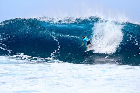 personne, spectacle, Surf, eau, surfeur, sport, une seule personne