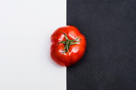 赤, トマト, フルーツ, 野菜, 食品