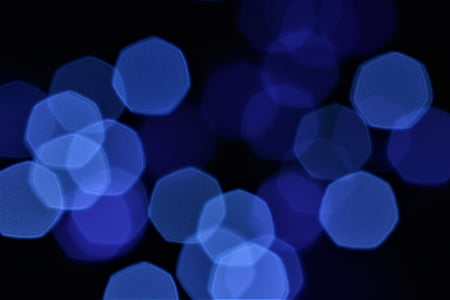 lights, defocused, stains, blue, glowing, circle, abstract