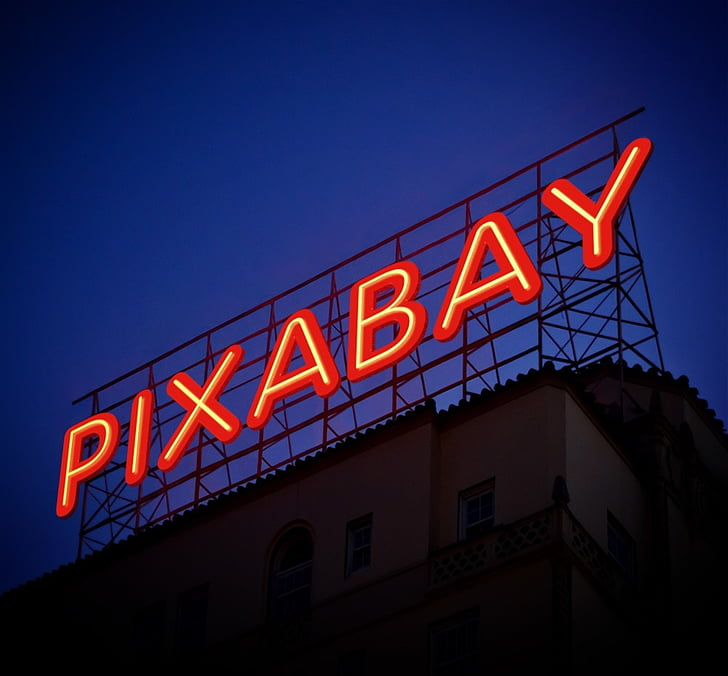 pixabay, font, photoshop, creation, neon, lights, text
