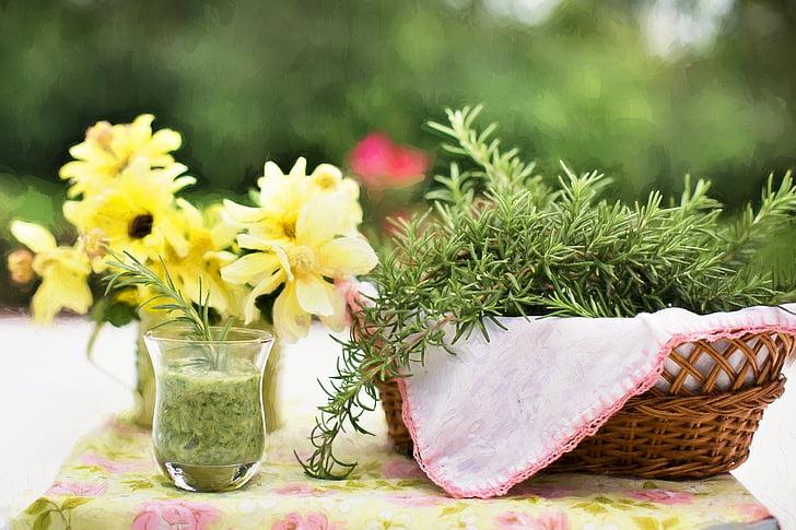 Ružmarin, biljka, hrana, zdrav, Začini i bilje, kuhanje, svježe