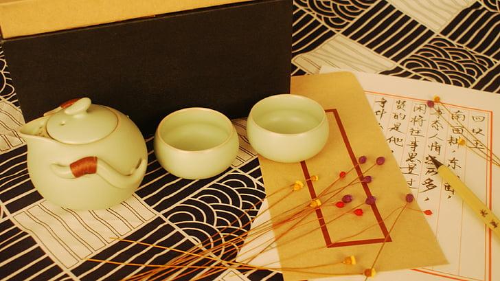 Tea set, senatne, siltas krāsas