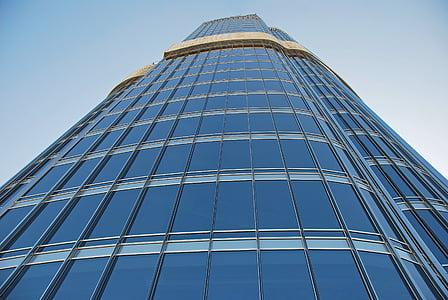 pilvelõhkuja, hoone, klaasi ees, Klaasfassaadi, Moodne arhitektuur, büroohoone, fassaad
