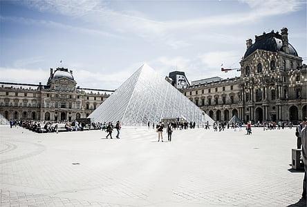 louvre, Pariis, Prantsusmaa, arhitektuur, Art, Galerii, muuseum