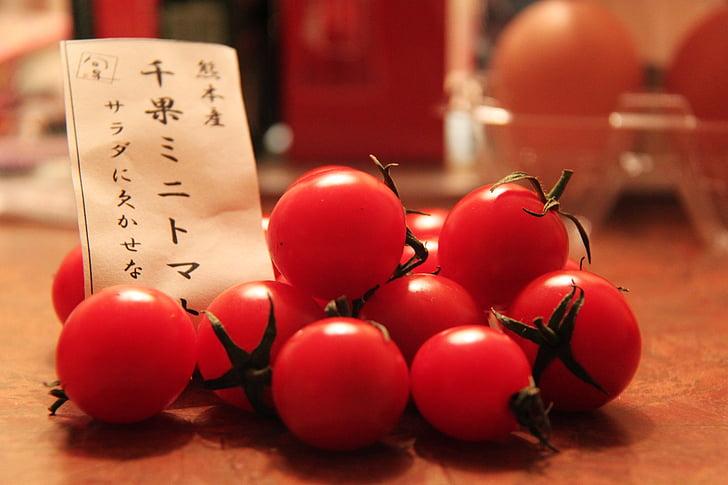 jauks, sarkana, augļi, tomāti, tomāti, nelielu tomāti, Osaka