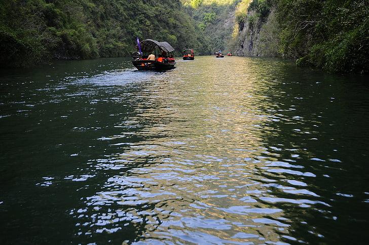 tri klanca, krajolik, Kina, Rijeka yangtze, male tri klanca, čarter plovila, Rijeka