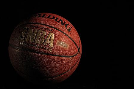 basquete, Spalding, bola, desporto, jogo, rodada, jogar