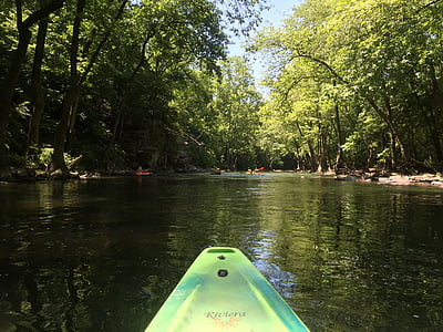 canoë, canoë-kayak, eau, bateau, Paddle, Lac, nature