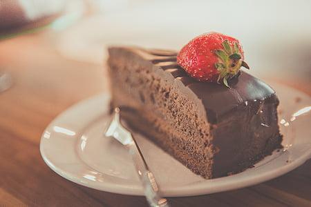торт, шоколад, Шоколадний торт, смачні, десерт, продукти харчування, фрукти