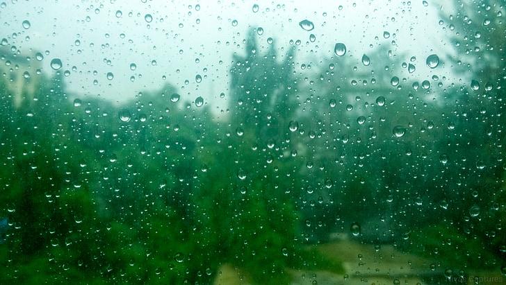 σταγόνες βροχής, σταγόνες βροχής καθρέφτη, γυαλί, αφήστε το, βροχή, καιρικές συνθήκες