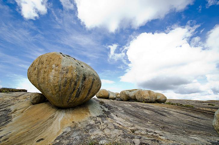 stenar, golv, granit, Rock, Sky, landskap, Rocks