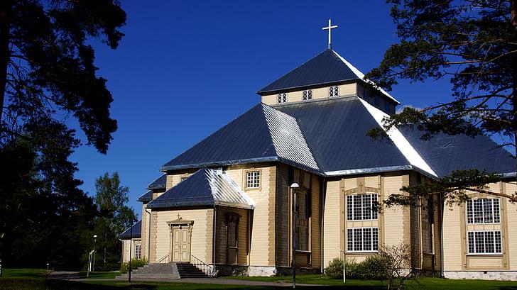 church, wooden church, cruciform church, religion, lutheran, cross, building