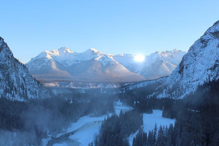 rocky mountains, canada, banff, mountains, mountain, rocky mountain, nature