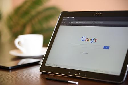 motor de cerca d'Internet, comprimit, Samsung, galàxia, Oficina, escriptori, tecnologies modernes