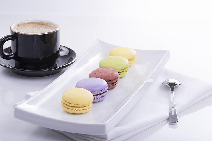 macaroon, Personalizar, pastelaria, comida e bebida, xícara de café, café - bebida, alimentos doces
