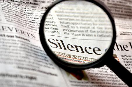 silenci, Lupa, loupe, Cerca, ampliar, llegir, diari