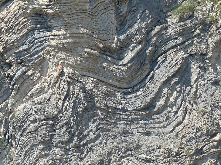skalné útvary, zložený, Fold, geologické rozhrania, vrstvenie, skalné vrstvy, skladacie
