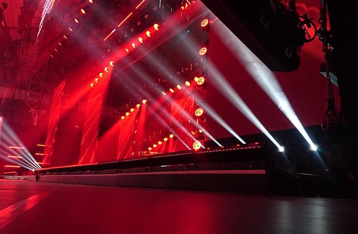 этап, световое, Показать, производительность, стадии музыки, магия, Концерт