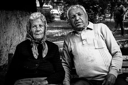 old, people, age, elderly, adult, mature, together