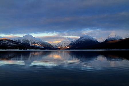 Llac, Llac mcdonald, paisatge, Montana, muntanyes, a l'exterior, tranquil